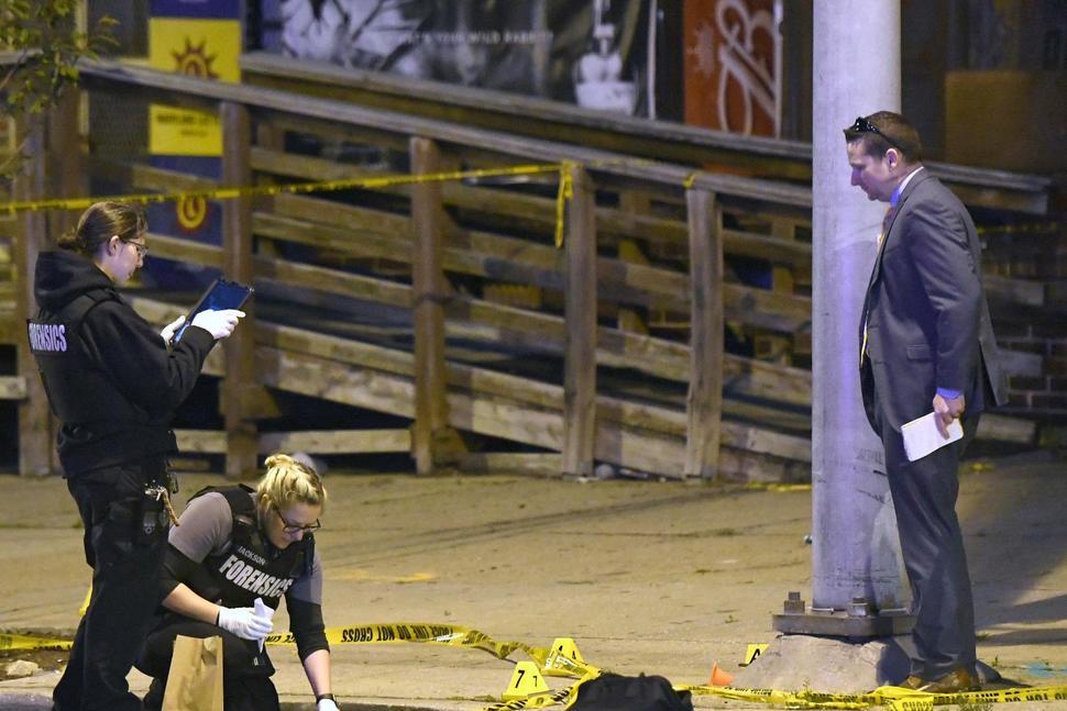 La escena del crimen en Baltimore. Foto: Steve Ruark, AP.