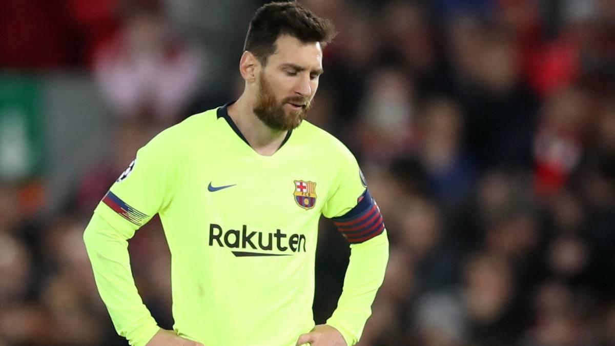 Messi deambuló por Anfield sin acercarse ni siquiera a su nivel medio. Foto: Reuters