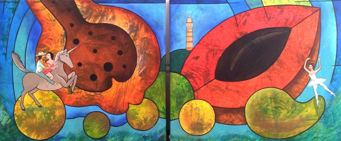 Frutas Tropicales I y II Obra: Alicia Leal.