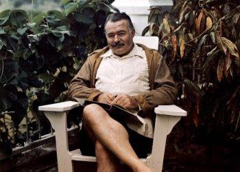 Hemingway en Finca Vigía, cerca de 1947. Foto: Colección Ernest Hemingway / John F. Kennedy Presidential Library and Museum, Boston.
