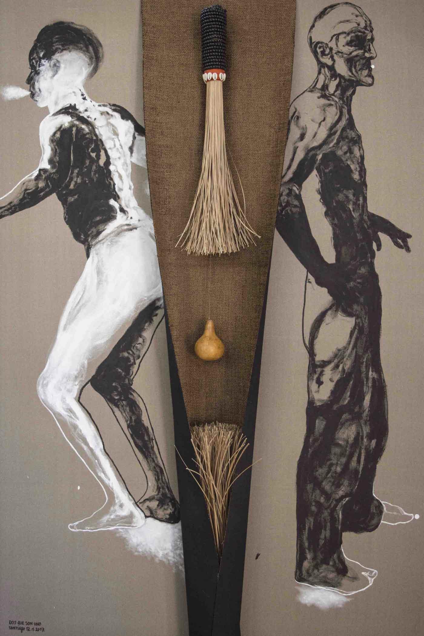 "Obra ""Dos que son uno"", del artista cubano Santiago Rodríguez Olazábal."