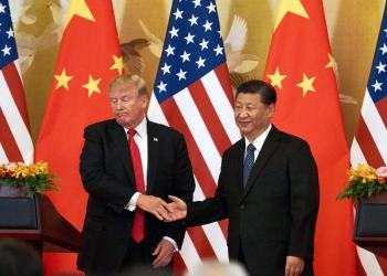 Los presidentes de EE.UU., Donald Trump, y china, Xi Jinping, en un encuentro bilateral. Foto: Getty Images / Archivo.