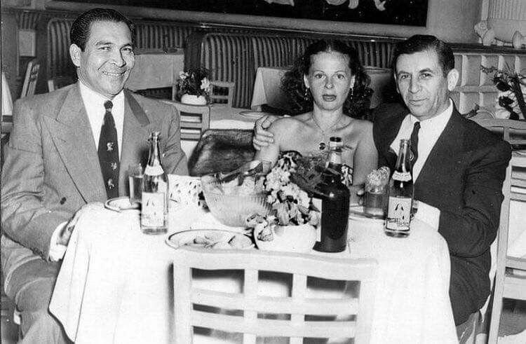 Fulgencio Batista y Meyer Lansky. Foto: Archivo del autor.