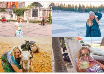 La usuaria @whereCwanders compartió sus fotos en Turquía, Suecia, Marruecos y México.  Foto: Twitter.