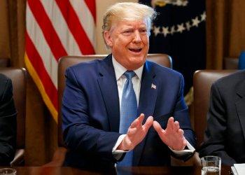 Donald Trump durante una reunión de gabinete en la Casa Blanca de Washington el 16 de julio del 2019. Foto: Alex Brandon / AP.
