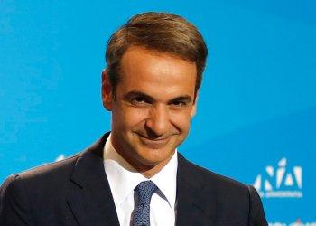 Kyriakos Mitsotakis, líder del partido conservador Nueva Democracia, elegido como nuevo primer ministro griego tras su triunfo en las elecciones del domingo 7 de julio de 2019. Foto: Thanassis Stavrakis / AP.