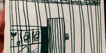 Foto presentada por la Academia Estadounidense de Pediatría de un dibujo realizado por un niño migrante en un centro de detención en McAllen, Texas, el 5 de julio del 2019. Foto: American Academy of Pediatrics via AP.