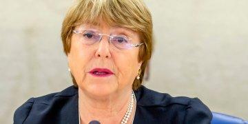 La alta comisionada de la ONU para los Derechos Humanos, la chilena Michelle Bachelet, durante la inauguración de la 41ra sesión del Consejo de Derechos Humanos en la sede de Naciones Unidas en Ginebra, Suiza, el lunes 24 de junio de 2019. Foto: Magali Girardin / Keystone vía AP.