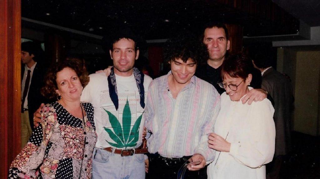 De izquierda a derecha: Zita Morriña junto Jorge Perugorría, Vladimir Cruz, Iván Giroud y Anita Rodríguez. Foto: Perfil de Iván Giroud en Facebook.