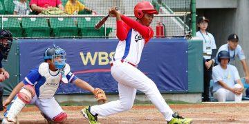 Christian Saez. una de las figuras del equipo infantil de Cuba que obtuvo el bronce en el Mundial Sub-12. Foto: WBSC