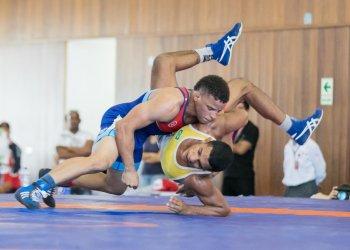Ismael Borrero, campeón mundial de lucha en Nur-Sultán, Kazajastán, fue seleccionado mejor atleta individual masculino. Foto: Archivo/ Inside the Games/Twitter.