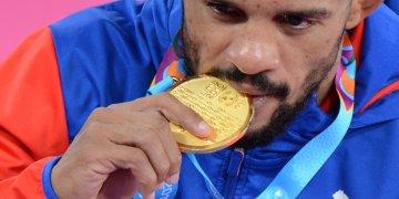 Alejandro Valdés ganó la medalla de oro 900 para Cuba en la historia de los Juegos Panamericanos. Foto: Osvaldo Gutiérrez