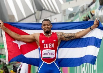 El cubano Luis Felipe Gutiérrez, ganador del salto de longitud masculino T13, en los Juegos Parapanamericanos de Lima, Perú, el 28 de agosto de 2019. Foto: Calixto N. Llanes / Jit.