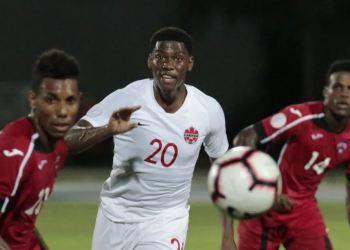 Momento del partido entre Cuba y Canadá, en la segunda fecha de la Liga de las Naciones de la Concacaf. Foto: concacafnationsleague.com