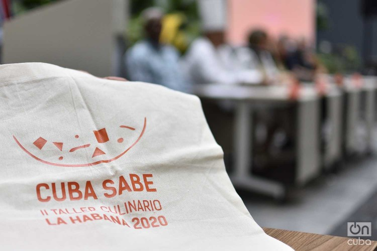 Conferencia de prensa del segundo Taller Culinario Cuba Sabe, que se realizará en La Habana en enero de 2020. Foto: Otmaro Rodríguez.