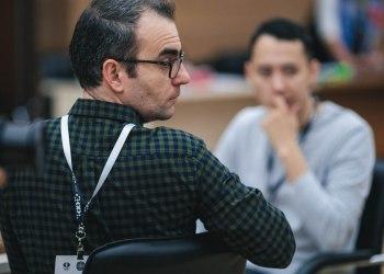 Leinier Domínguez no pudo con Alexander Grischuk en el desempate de rápidas y quedó eliminado de la Copa del Mundo, a un paso de igualar su mejor actuación hace 15 años. Foto: FIDE