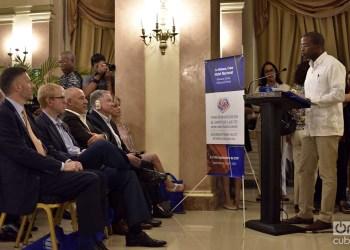 Apertura del Foro de Negocios entre empresas del sector de la informática y las comunicaciones de Cuba y EE.UU. en el Hotel Nacional de Cuba, en La Habana, el 4 de septiembre de 2019 . Foto: Otmaro Rodríguez.