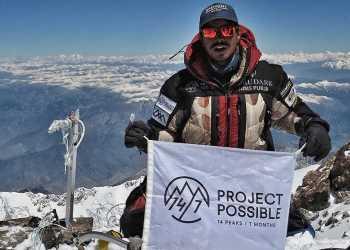 El alpinista nepalí Nirmal Purja escaló las 14 cumbres más altas del mundo en 189 días. Foto: rtve.es