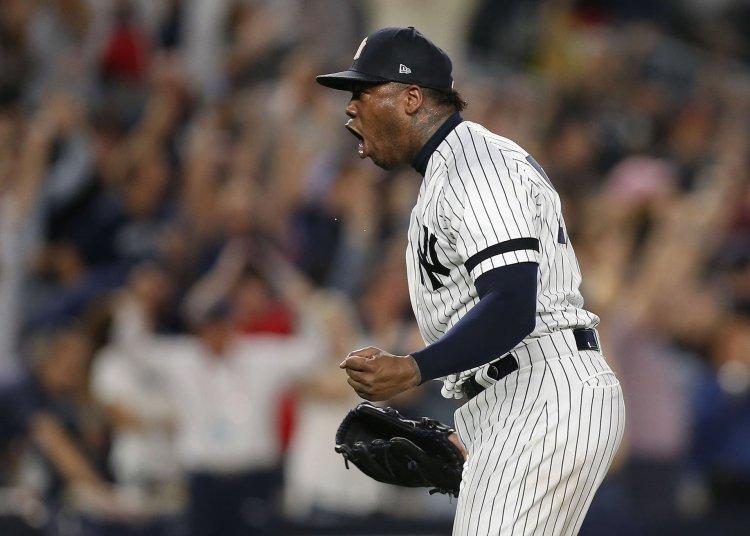 El cubano Aroldis Chapman, relevista del año en la Liga Americana en 2019. Foto: sports.yahoo.com