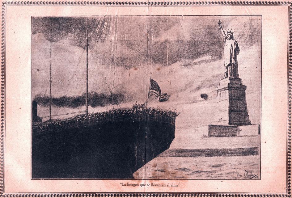 Contra la guerra, Cartel de Patria y Libertad, Órgano Oficial del Consejo Nacional de Veteranos de la Independencia de Cuba,1918.
