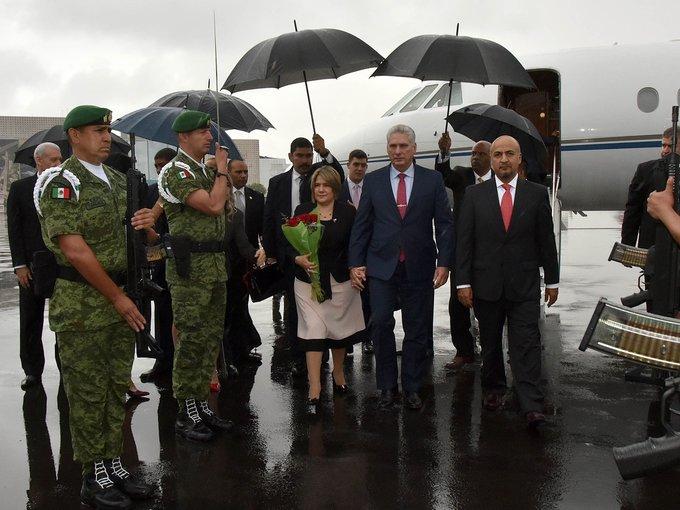AMLO recibe a Miguel Díaz-Canel, presidente de Cuba, en Palacio Nacional