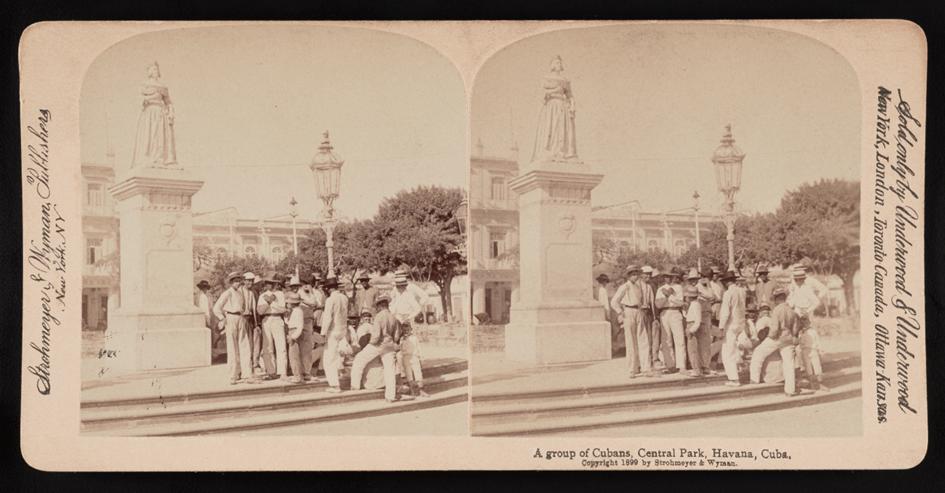 Estatua de Isabel II, Parque Central de La Habana, 1899. Biblioteca del Congreso, EEUU.