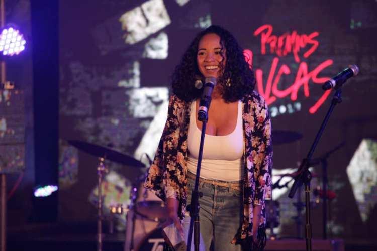 La cantante cubana Eme Alfonso en la gala de nominados de los Premios Lucas, en La Habana, el 20 de noviembre de 2019. Foto: El Megáfono / Facebook.