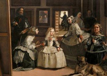 Las Meninas, de Velázquez (fragmento), una de las más importantes obras expuestas en el bicentenario museo madrileño.