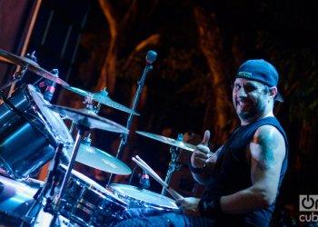 Dave Lombardo duratnte el concierto de Suicidal Tendencies en La Habana. Foto: Enrique Smith