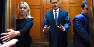 El senador republicano Mitt Romney en el Congreso en Washington el 5 de noviembre del 2019. Foto: Susan Walsh / AP.