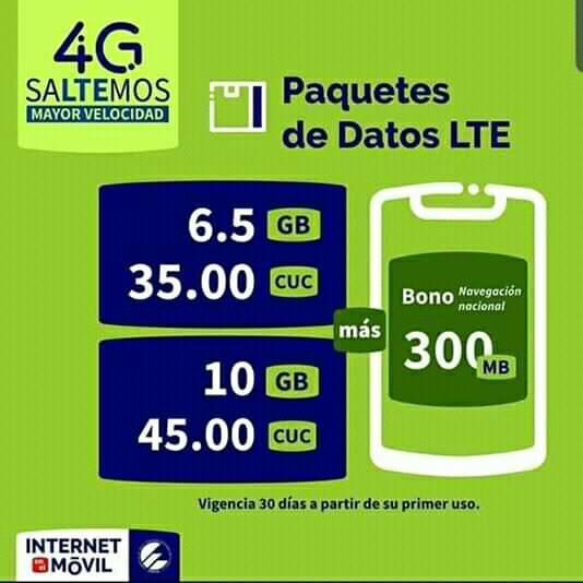 Nueva oferta para la comercialización del servicio Internet por 4G/LTE.