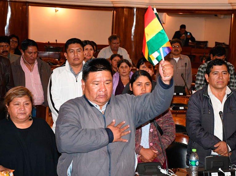 Sergio Choque, líder de la bancada mayoritaria del MAS, elegido como presidente de la Cámara de Diputados de Bolivia. Foto: ultimasnoiticias.com