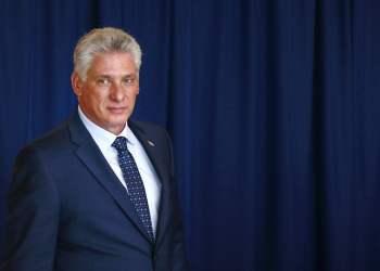 El presidente cubano Miguel Díaz-Canel. Foto: Jason DeCrow/AP.