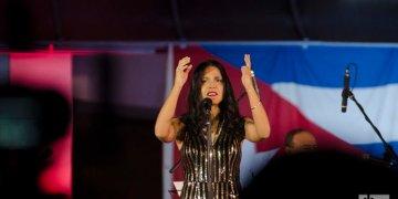 Concierto de la cantante Haydée Milanés en el Museo Nacional de Bellas Artes de La Habana, el 4 de diciembre de 2019. Foto: Enrique Smith.