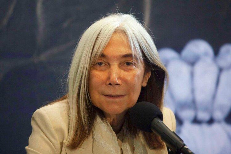 María Kodama, viuda y heredera de Jorge Luis Borges. (Foto AP/Alexandre Meneghini, archivo)