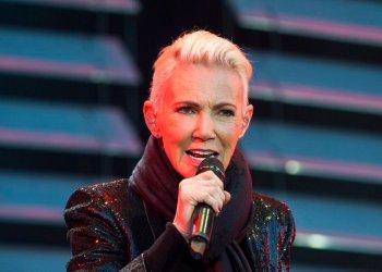 Foto de archivo del 18 de julio de 2015, de Marie Fredriksson, cantante del dúo pop Roxette, quien falleció a los 61 años de edad, tras una larga enfermedad, el 9 de diciembre de 2019. Foto: Suvad Mrkonjic / TT vía AP.