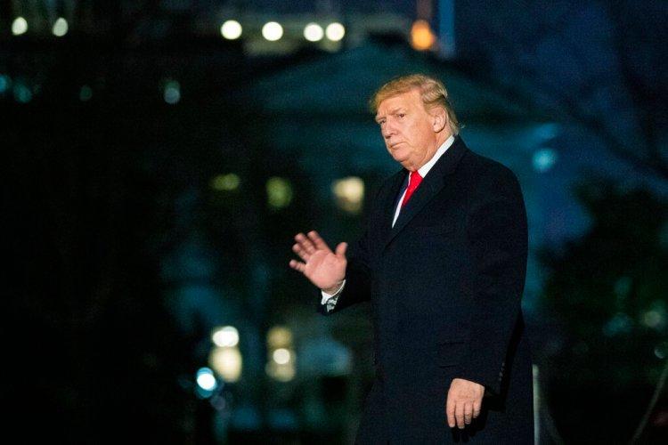 El presidente Donald Trump regresa a la Casa Blanca, en Washington, el domingo, 19 de enero del 2020. Foto: AP/Manuel Balce Ceneta