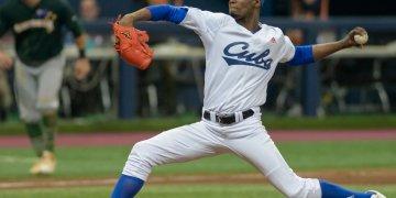 Liván Moinelo ha dado su versión de los hechos tras declarar que no estaba listo para lanzar en la postemporada del béisbol cubano. Foto: WBSC.