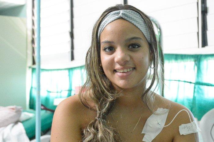 Sheily Otañes lista para salir de alta luego de ser salvada por especialistas de la salud en Camagüey. Foto: Alejandro Rodríguez /Adelante