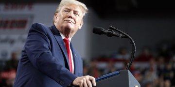 El presidente Trump en Ohio. Foto: Jacquelyn Martin/AP.