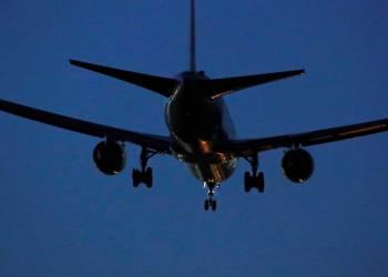 Imagen del Boeing 767 de Air Canada que aterrizó de emergencia en el aeropuerto de Madrid el lunes 3 de febrero de 2020. Foto: Juan Medina/REUTERS