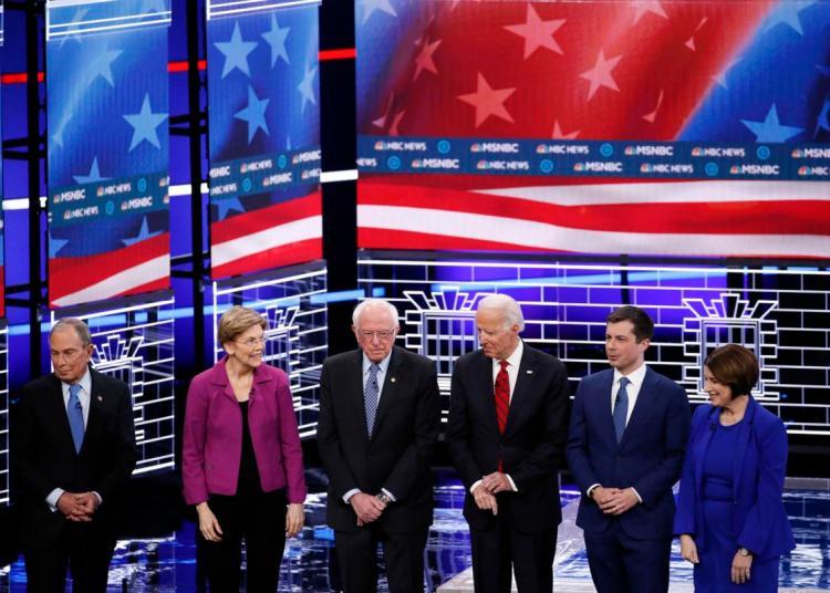 Los candidatos en Las Vegas. Foto: Jonh Locher/AP.