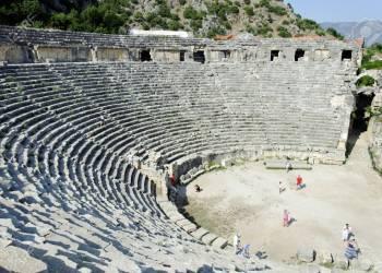 Teatro griego en Myra, al sur de Turquía. Foto: 123RF.