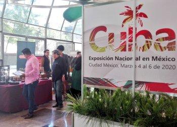 Exposición comercial de Cuba en México, inaugurada en la sede diplomática de la Isla en la capital mexicana, el 4 de marzo de 2020. Foto: @NexosTuristicos / Twitter.