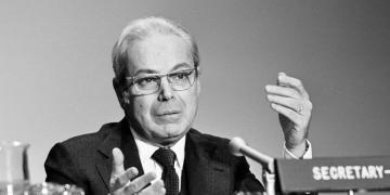 Javier Pérez de Cuéllar (1920-2020). Foto: unric.org