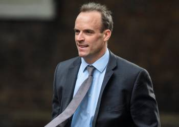 El ministro de Exteriores británico, Dominique Raab. Foto: The Morning Star.