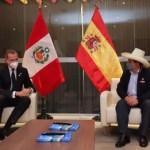 Presidente electo Pedro Castillo se reunió con el Rey de España, Felipe VI