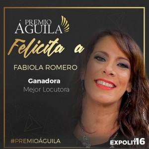 5. Mejor Locutora Fabiola Romero – La Nueva 88.3 FM Florida – EE.UU
