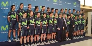 El fuenlabreño Dani Moreno ya luce en la presentación del Movistar Team