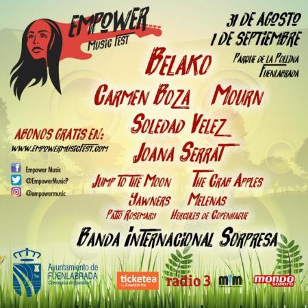 Belako y Carmen Boza encabezan el cartel del Empower Music Fest de Fuenlabrada